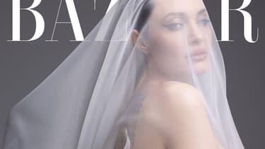 Angelina Jolie en couverture de Harper's Bazaar
