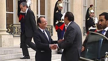 François Hollande recevant le Premier ministre qatari Hamad ben Jassem al-Thani, en juin 2012.