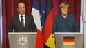 François Hollande et Angela Merkel à l'Elysée, ce mercredi 18 décembre 2013.