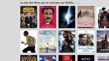 NotFlix, le site parodique de NetFlix...made in France.