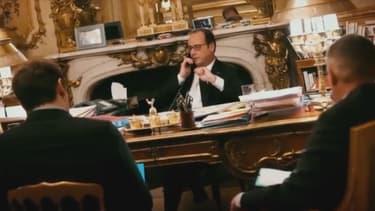 François Hollande dans son bureau à l'Elysée