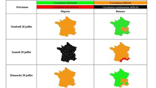 Ce samedi est classé noir dans le sens des départs; Bison Futé prévoit des bouchons entre 4 et 20 heures.