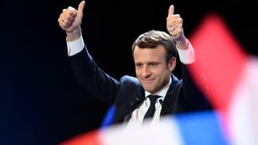 Emmanuel Macron au Parc des expositions de Paris, le 23 avril 2017.