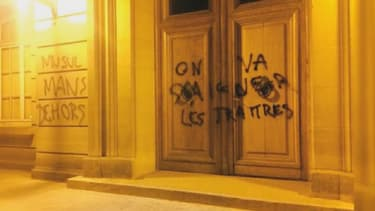 Des tags islamophobes sur une mosquée à Evreux.