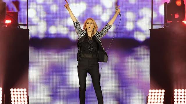 Céline Dion en concert à Nice, le 20 juillet 2017.