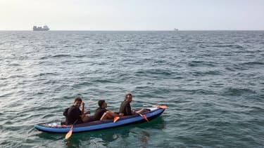 Des migrants qui traversent la Manche (Photo d'illustration)