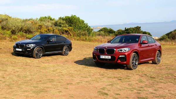 La finition M Sport X (à gauche) ajoute des éléments visibles sur la carrosserie par rapport au M Sport classique (à droite).