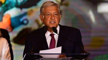 Andrés Manuel Lopez Obrador, le soir de son élection le 1er juillet 2018, à Mexico (Mexique)