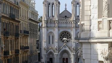 Basilique Notre-Dame de l'Assomption de Nice, le 29 octobre 2020 après une attaque au couteau