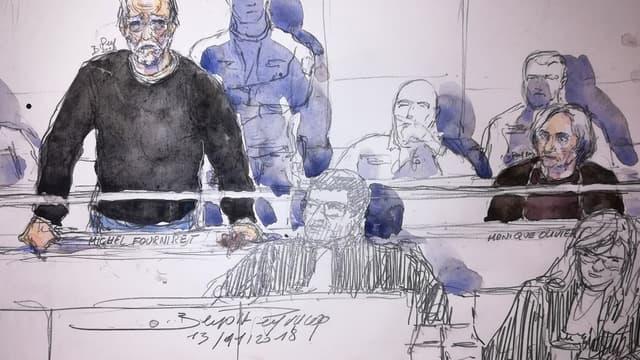 Michel Fourniret a bondi dans le box après avoir été poussé par un avocat.