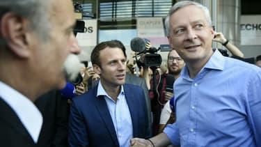 Emmanuel Macron et Bruno Le Maire