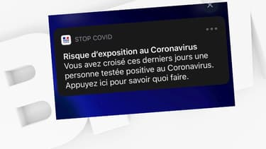 """Voici la notification que pourrait envoyer l'application """"StopCovid"""" pour les personnes qui ont croisé des malades"""
