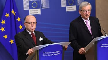 Bernard Cazeneuve, Premier ministre, et Jean-Claude Juncker, président de la Commission européenne.
