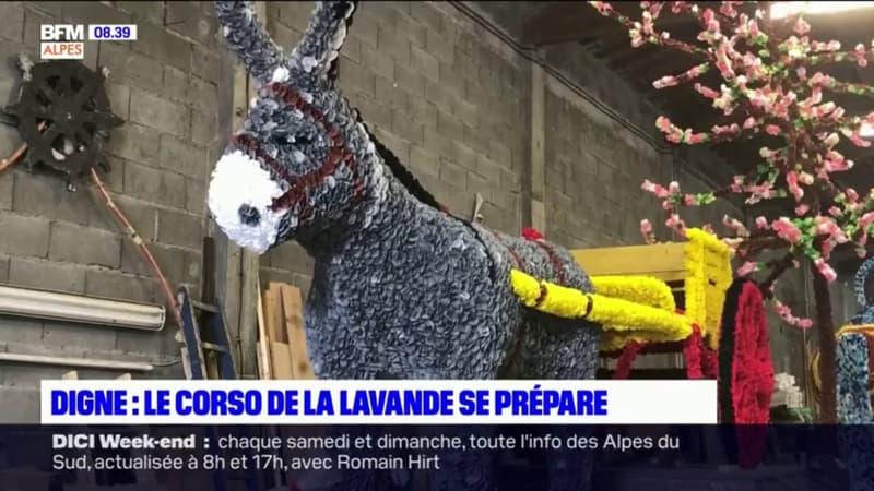 Digne-les-Bains: le Corso de la lavande se prépare pour ce week-end