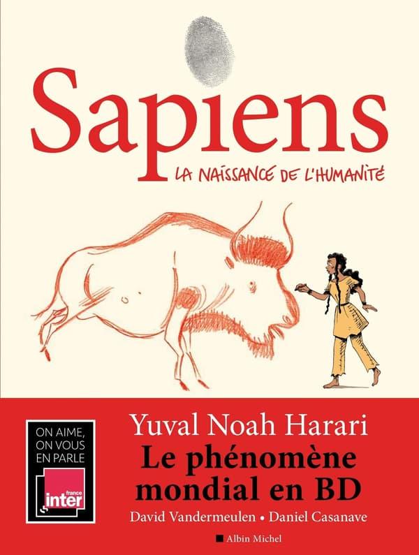 """La couverture de la BD """"Sapiens"""", d'après le célèbre livre de Yuval Noah Harari, vendu à 15 millions d'exemplaires"""