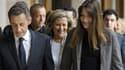 Nicolas Sarkozy et Carla Bruni le 10 juin 2012 à Paris.