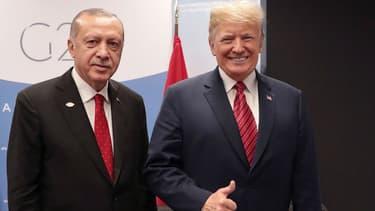 Recep Tayyip Erdogan et Donald Trump, le 1er décembre 2018 lors du G20 en Argentine