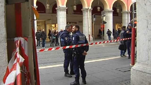 C'est ici que les faits se sont déroulés, à côté de la place Masséna, à Nice.