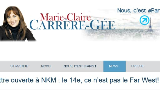 """La """"lettre ouverte à NKM"""" publiée par Marie-Claire Carrère-Gée sur son blog vendredi."""
