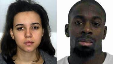 Hayat Boumedienne et Amédy Coulibaly