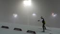 Martin Fourcade hier dans le brouillard.