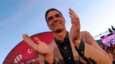 Le Premier ministre espagnol Pedro Sanchez lors d'un meeting de son parti, le PSOE, le 24 mai 2019 à Madrid