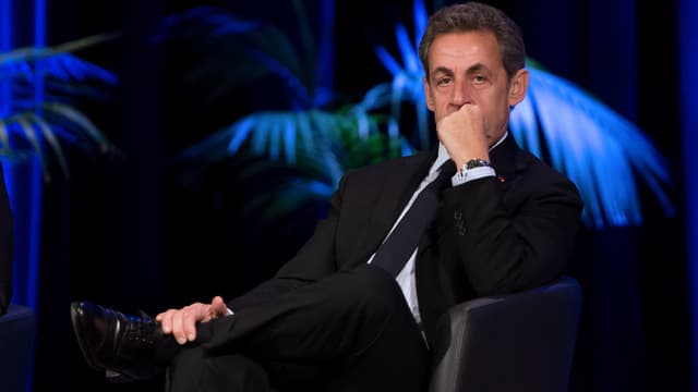 Nicolas Sarkozy, le 29 janvier 2015, lors d'un meeting à Tourcoing, dans le Nord.