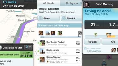 La société israélienne Waze propose un service de GPS social.