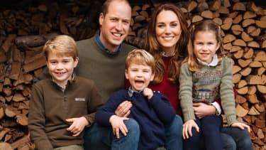 La carte de Noël 2020 de Kate, William et leurs enfants.