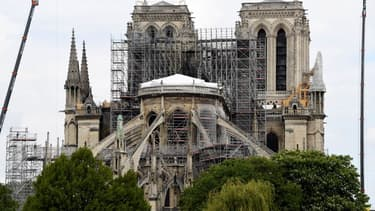 La cathédrale Notre-Dame en travaux, le 10 mai 2019