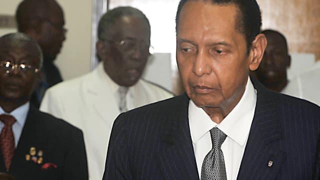L'ancien président haïtien Jean-Claude Duvalier, le 28 février 2013 au tribunal de Port-au-Prince.