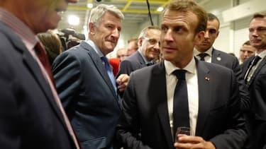Philippe de Villiers et Emmanuel Macron, aux Herbiers (Vendée) en juin 2018.
