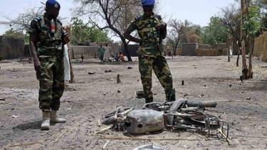 Des soldats tchadiens lors d'une opération près du lac Tchad (février 2015, illustration)