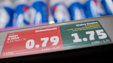 Le vrai prix d'un litre de lait en prenant en compte les coûts environnementaux.