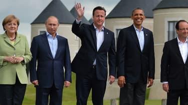 Les dirigeants occidentaux et Vladimir Poutine, lors du sommet du G8 en 2013.
