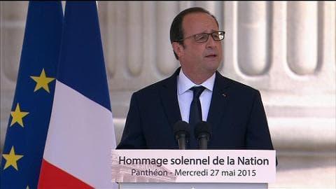 """Hollande: """"Germaine Tillion se serait mobilisée pour les filles enlevées par Boko Haram"""""""
