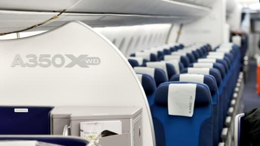 Airbus a dévoilé son nouvel aménagement de cabines de l'A350.