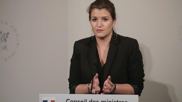 Marlène Schiappa en conférence de presse le 6 mars 2019.