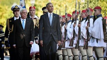 Le président américain est arrivé mardi matin en Grèce pour une visite de deux jours.