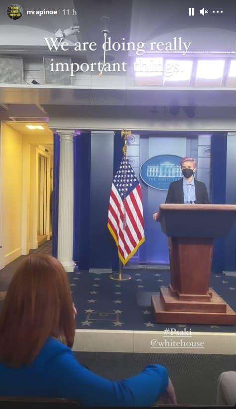 Megan Rapinoe à la Maison Blanche