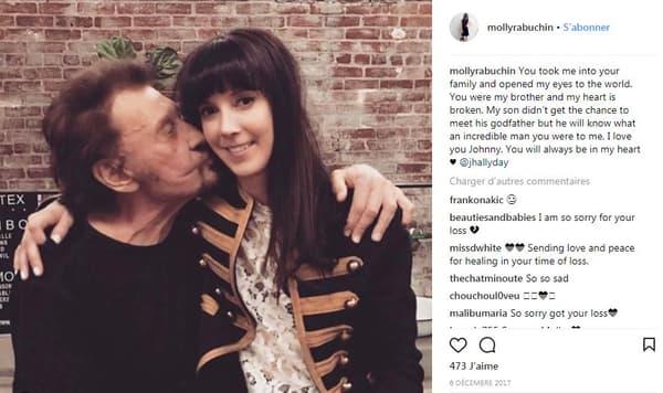 Johnny Hallyday et Molly Rabuchin