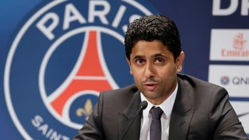 Le PSG (ici son président Nasser Al-Khelaïfi) devra s'acquitter d'une amende ferme de 20 millions d'euros.