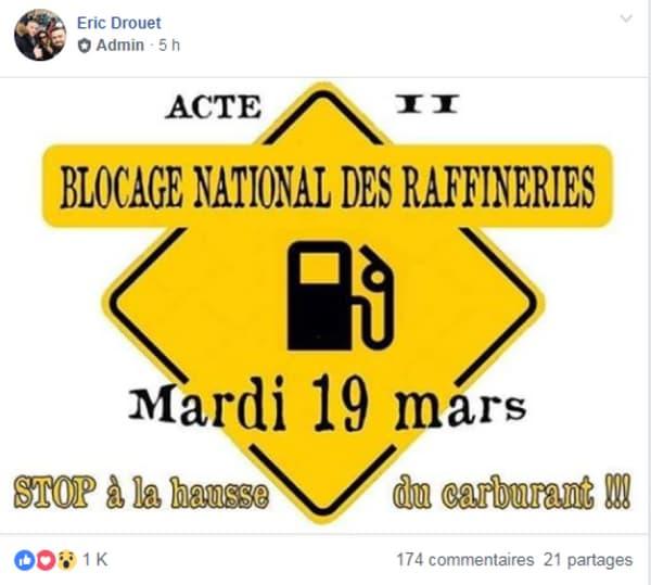 Facebook Eric Drouet