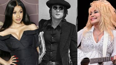 Cardi B, John Lennon et Dolly Parton.