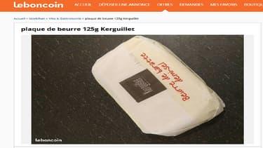 Des plaquettes de beurre mises en vente sur Le Bon Coin