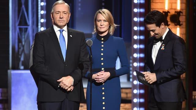 Kevin Spacey et Robin Wright aux Tony Awards dans la peau de Frank et Claire Underwood