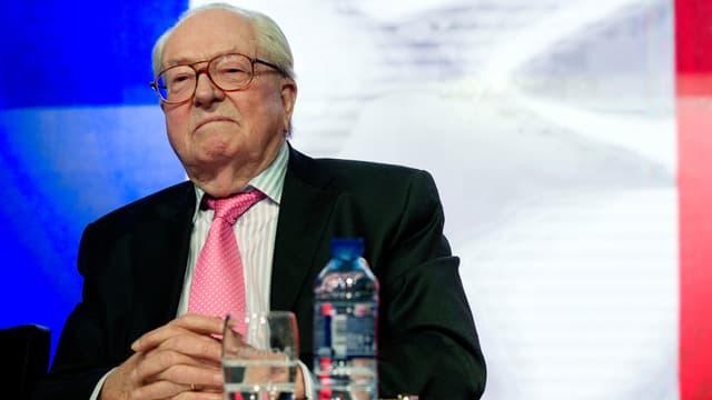 Le président d'honneur du FN Jean-Marie Le Pen
