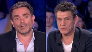 Yann Moix et Marc Lavoine dans ONPC
