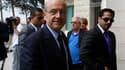 Alain Juppé en territoire palestinien, à Ramallah, en Cisjordanie. Le chef de la diplomatie française espère encore débloquer le dialogue entre Palestiniens et Israéliens pour éviter une confrontation en septembre autour de la reconnaissance d'un Etat pal