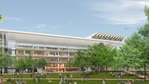 Les travaux impliquent également la reconstruction de la Place des Mousquetaires, au centre du tournoi.